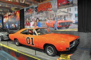 If you loved the Dukes of Hazzard, you can check out the General Lee on display at the Volo Auto Museum.